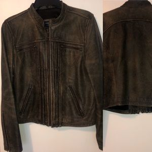 America Eagle Outfitters leather moto jacket coat